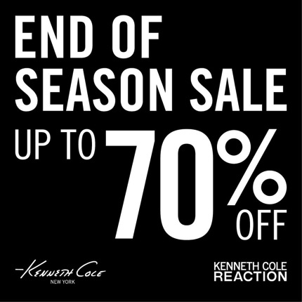 Promotion Kenneth Cole End of Season Sale 2013 up to 70% off