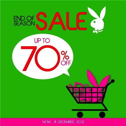 Promotion Playboy End of Season Sale 2013 up to 70% off