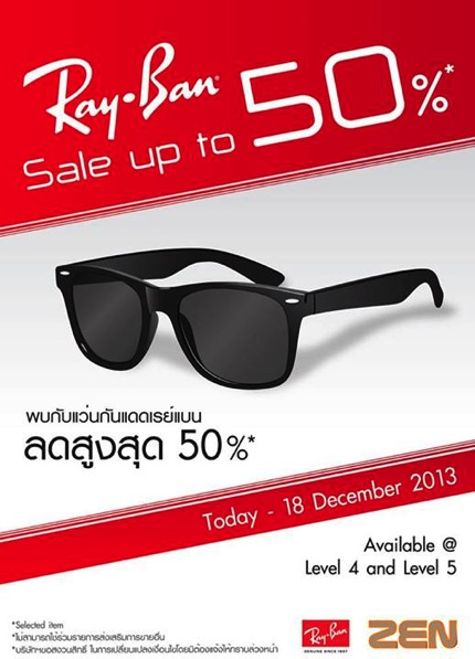 Promotion Rayban Sale up to 50% off @ ZEN