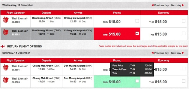 Promotion Thai Lion Air Fly Bangkok - Chiang Mai Started 515.- Full