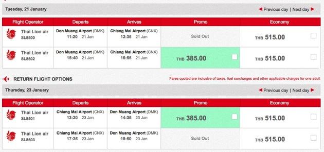โปรโมชั่น Thai Lion air หั่นราคาบินเชียงใหม่ 385.-