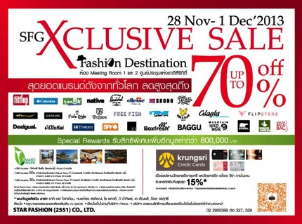 Promotion SFG Exclusive Sale 2013 Fashion destination Sale up to 70% off