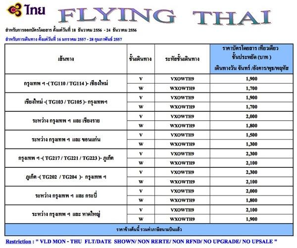 Flying Thai Promotion 2014