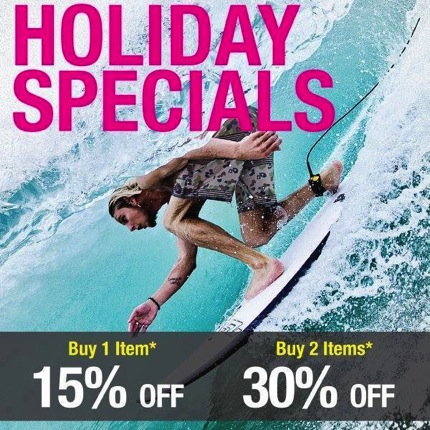 Promotion Billabong Holiday Specials Sale up to 30% off