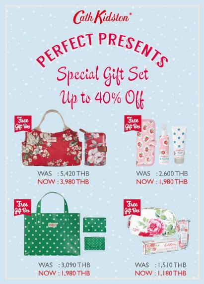 โปรโมชั่น Cath Kidston Special Giftset for Christmas 2013 ลดสูงสุด 40%