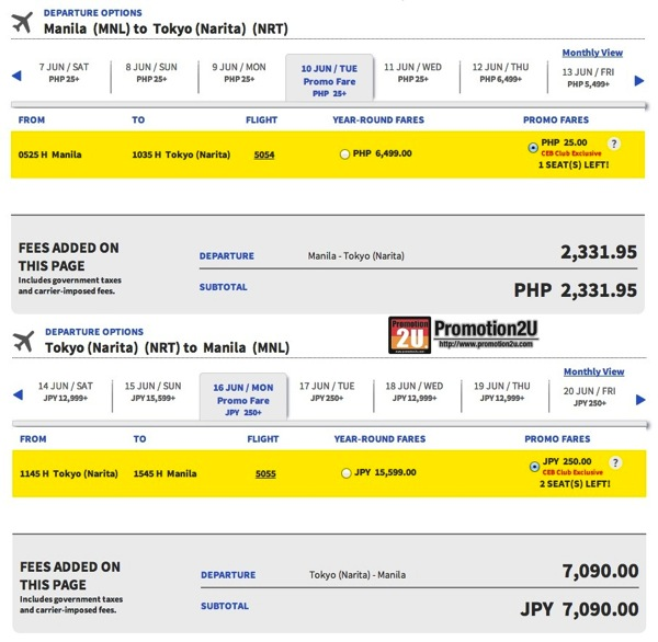Promotion Cebu Pacific Give Low on Christmas Day Started 25 Php Full Price NRT