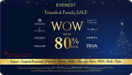 Promotion Everest Friends & Family Sale WOW up to 80% off