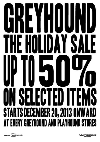 Promotion Greyhound The Holiday Sale Up to 50% off