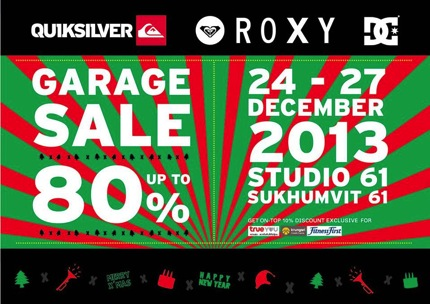 Promotion Quiksilver Roxy DC Garage Sale 2013 up to 80% off