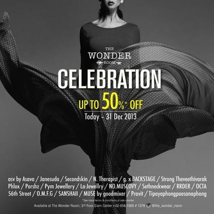 Promotion Siam Center The Wonder Room Celebration Sale up to 50%