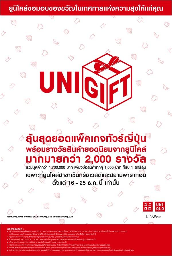 โปรโมชั่น Uniqlo Unigift Gashapon Capsule Toy ลุ้นทัวร์ญี่ปุ่น