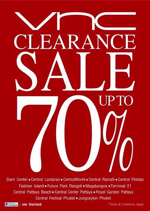 โปรโมชั่น VNC Clearance Sale 2013 ลดล้างสต๊อกสูงสุด 70%