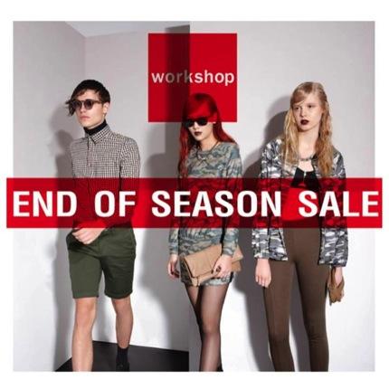 โปรโมชั่น Workshop End of Season Sale ลดสูงสุด 30%