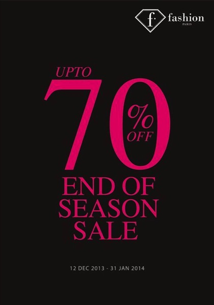 Promotion f fashion End of Season Sale up to 70% off