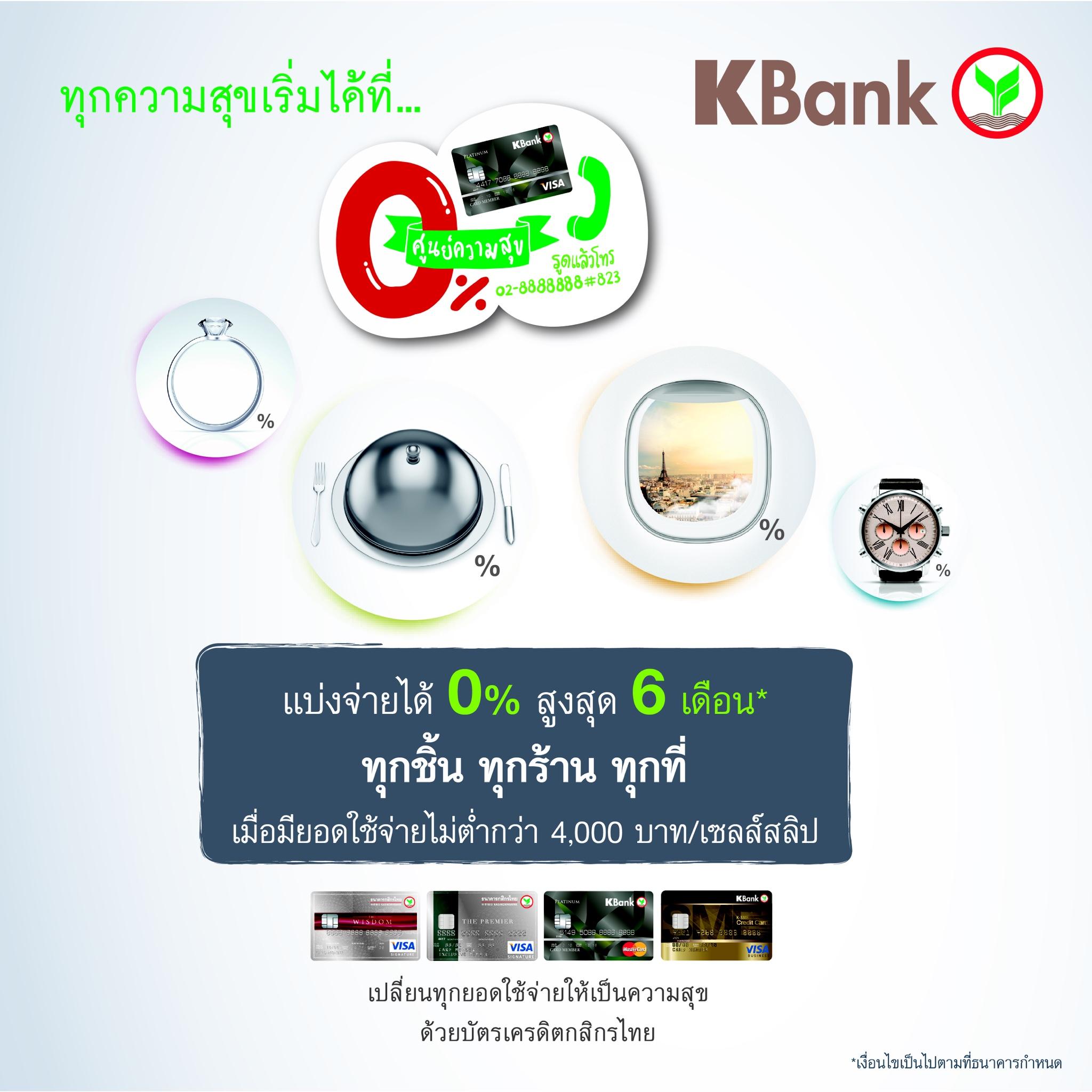 Promotion Kbank Happiness 0 Percent Plan