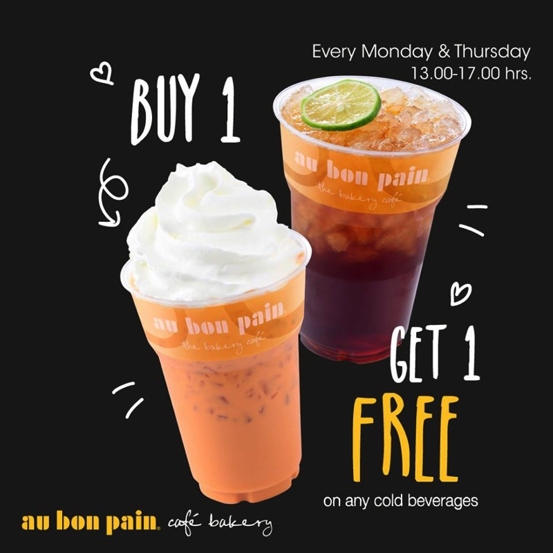 Promotion Au Bon Pain Buy 1 Get 1 Free Any Cold Beverages!!