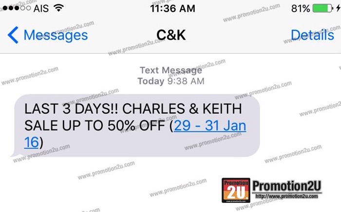 Promotion Charles & Keith End of Season SALE up to 50% off [Jan.2015]