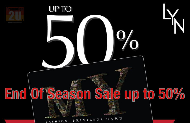 Promotion Lyn End of Season Sale [Jan.2016] up to 50% off