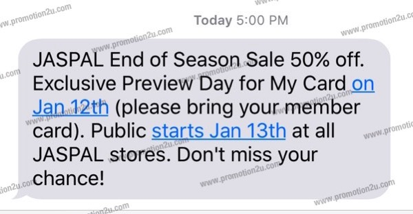 promotion-jaspal-end-of-season-sale-jan-2016-up-to-50-off Re Schedule