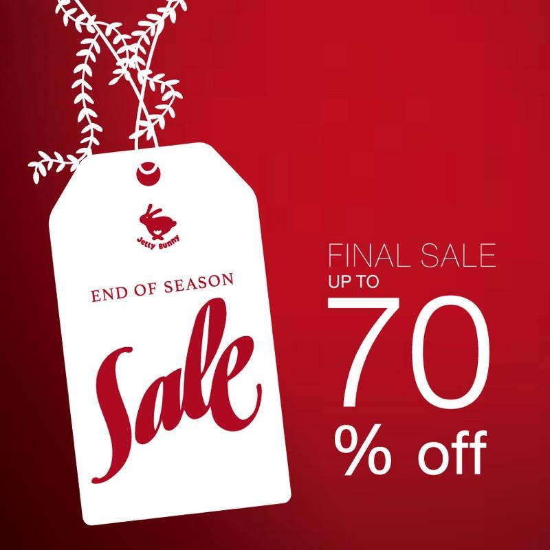 โปรโมชั่นรองเท้า Jelly Bunny End of Season Final Sale ลดสูงสุด 70% (กพ.59)