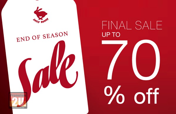 Promotion Jelly Bunny End of Season Final Sale up to 70% Off