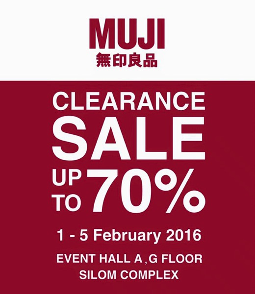 Promotion Muji Clearance Sale up to 70% Off [Feb.2016]