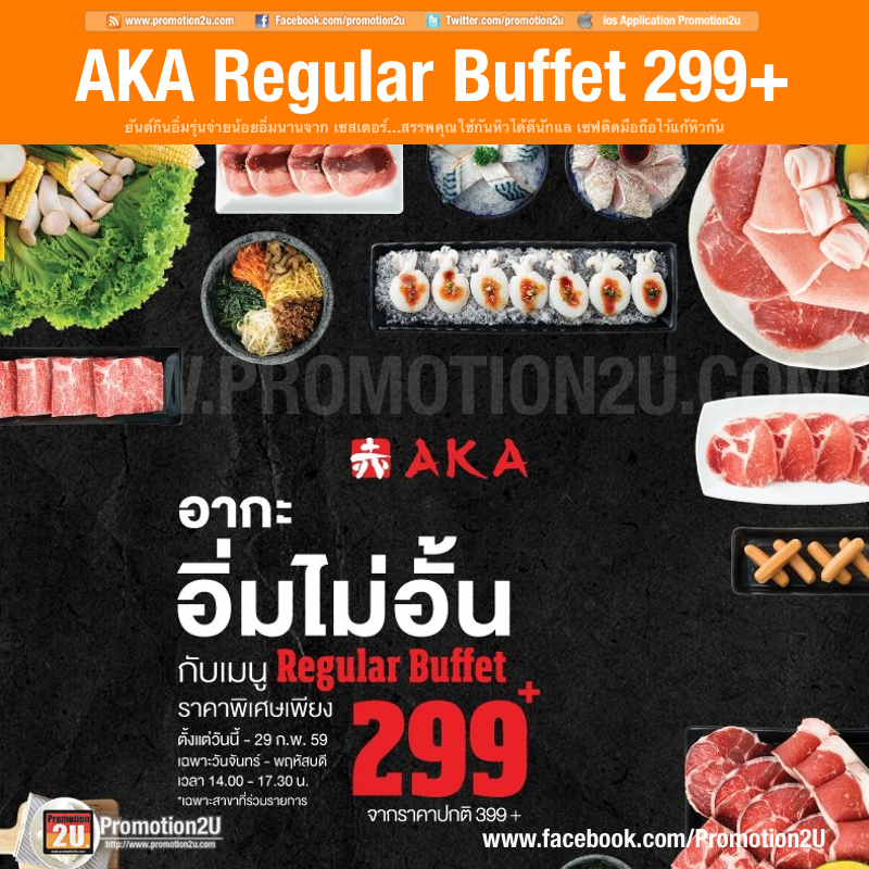 Promotions AKA Buffet Special Price Only 299+ FULL