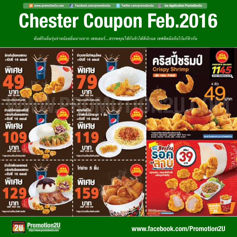 Coupon Promotion Chester's Big Set [Feb.2016]