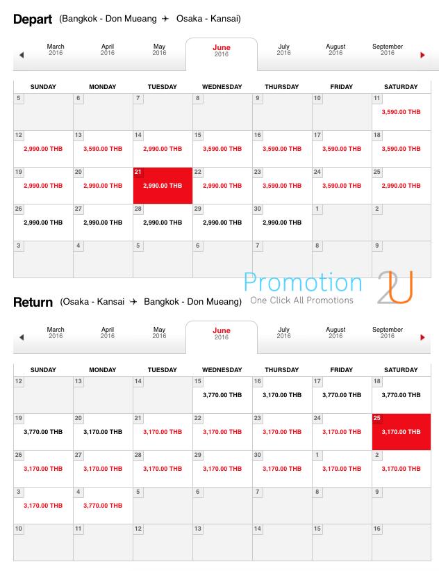 Promotion AirAsia Light Season Fly to Osaka 6160 Table