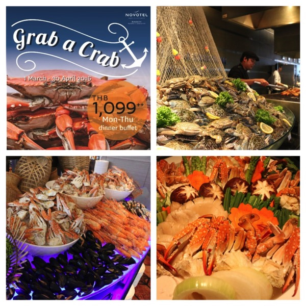 Promotion Grab a Crash Inter Buffet Come 2 Pay 1 @ The Square Novotel Bangkok Pleonjit Sukhumvit