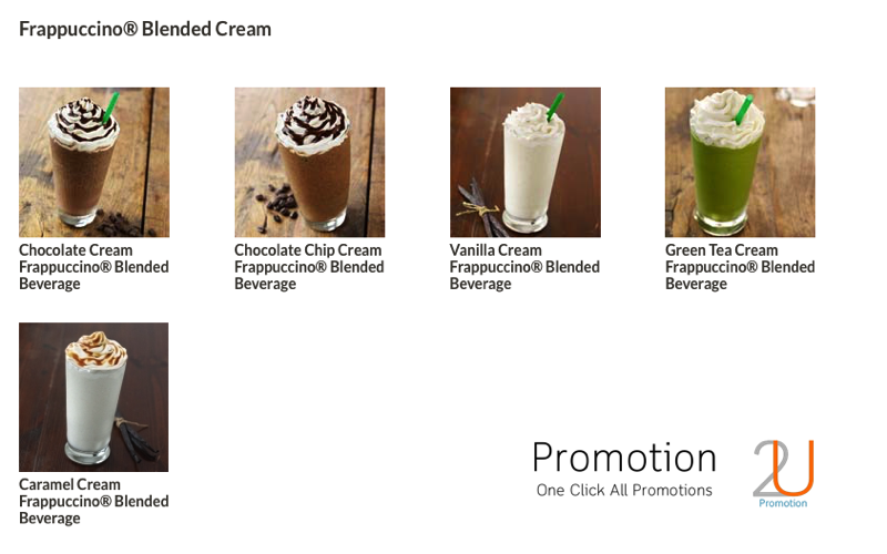 Promotion Starbucks Frappuccino Happy Hour Save 50 [May.-June.2016] Menu2
