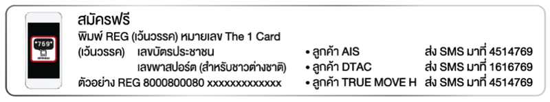 promotion the 1 card easy redeem P02