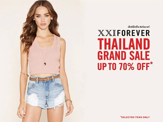 Promotion XXI Forever Thailand Grand SALE 2016 up to 70% Off [Jun.2016]