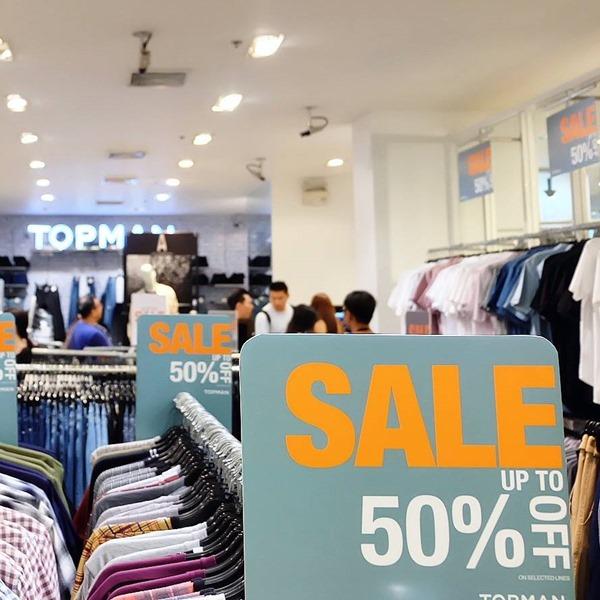 โปรโมชั่น TOPMAN End of Season Sale ลดสูงสุด 50% [มิย.59]