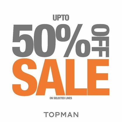 Promotion TOPMAN End Of Season Sale up to 50% off [Jun.2016]