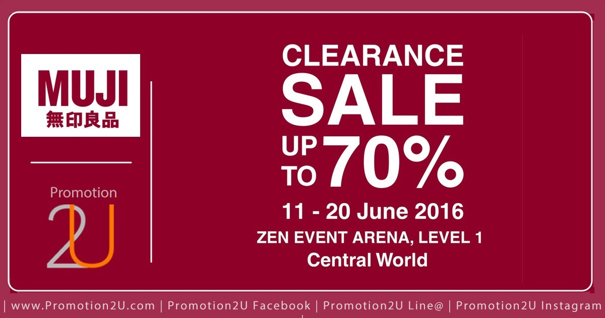 Promotion MUJI Clearance Sale up to 70% off @ ZEN [Jun.2016]