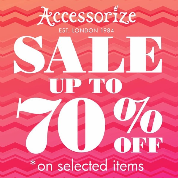 Promotion Accessorize End of season Sale up to 70% Off [July.2016]