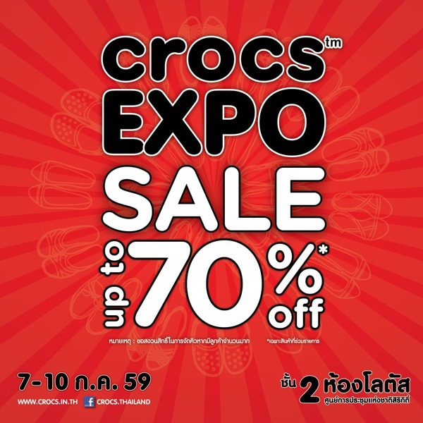 Promotion CROCS Expo 2016 Sale up to 80 Off