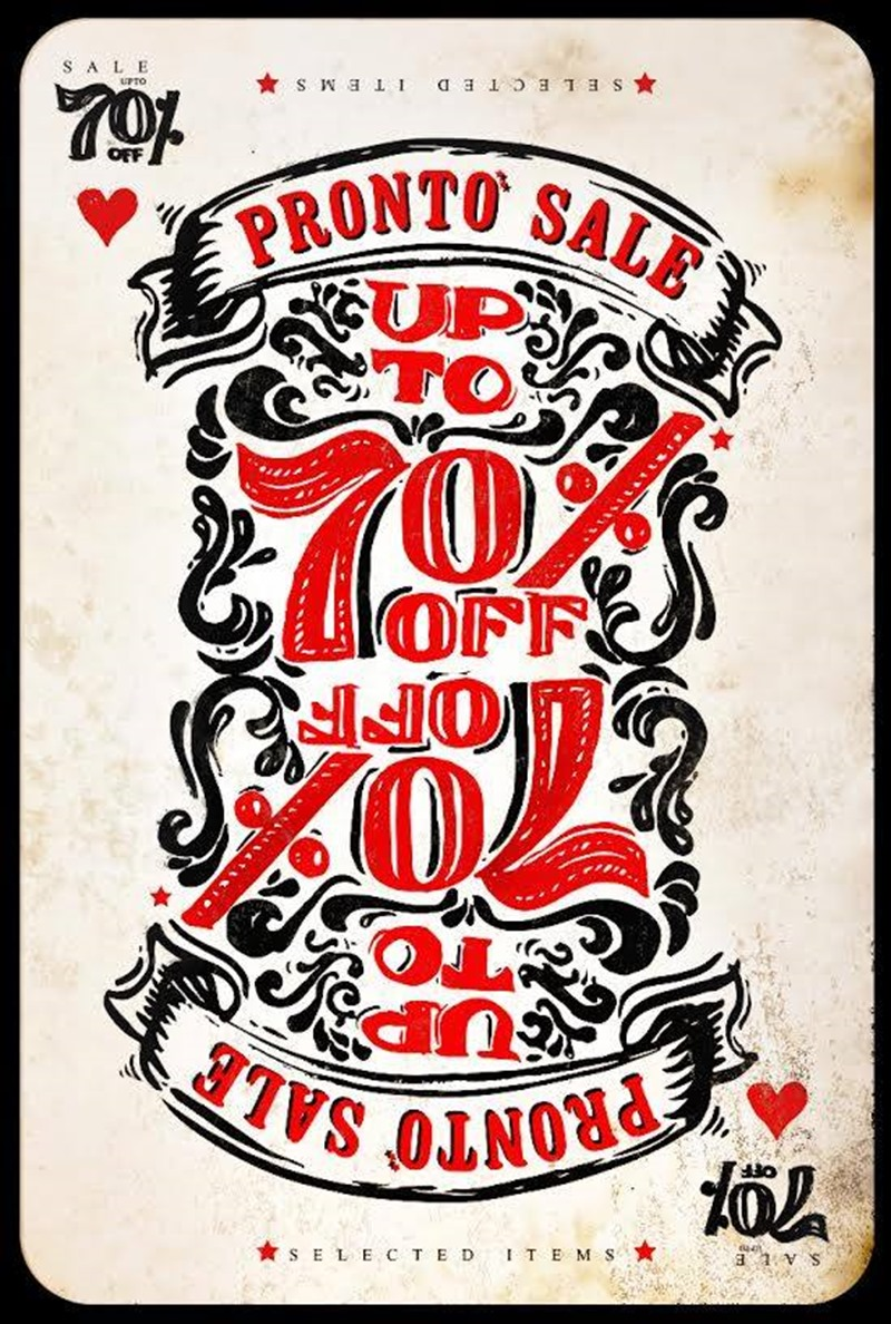 Promotion Pronto Sale up to 70 Off [July.2016] full