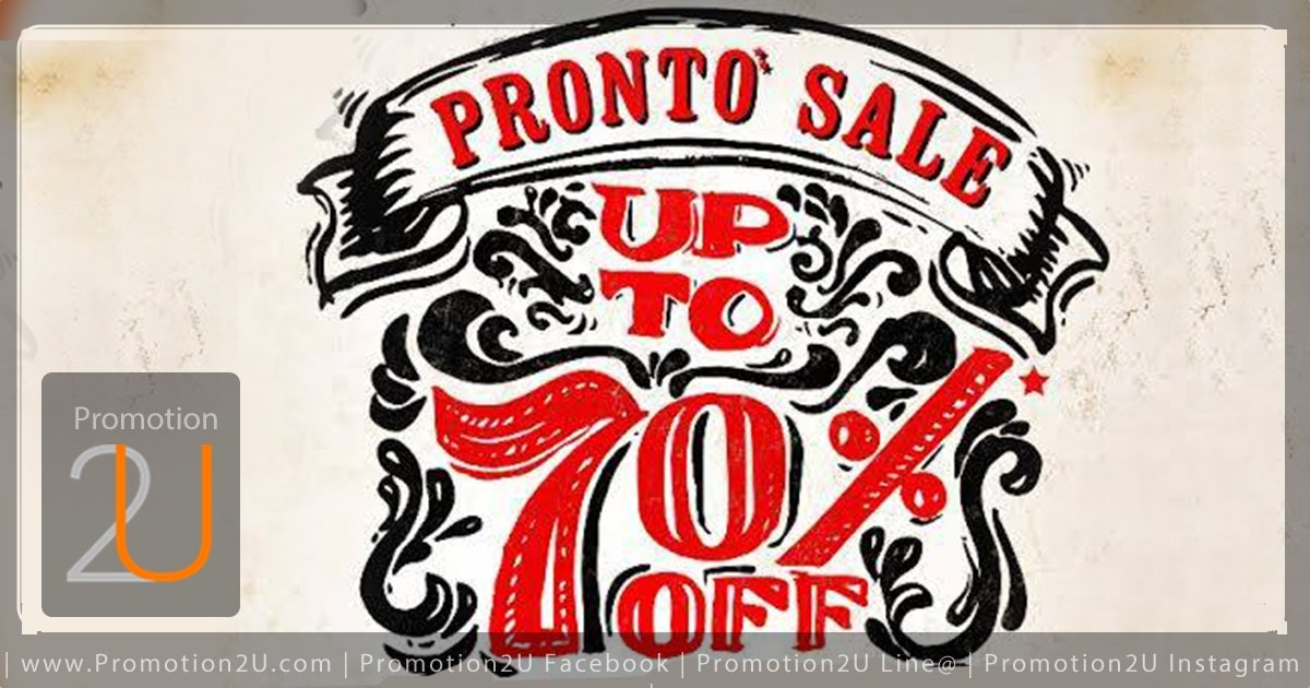 Promotion Pronto Sale up to 70 Off [July.2016]