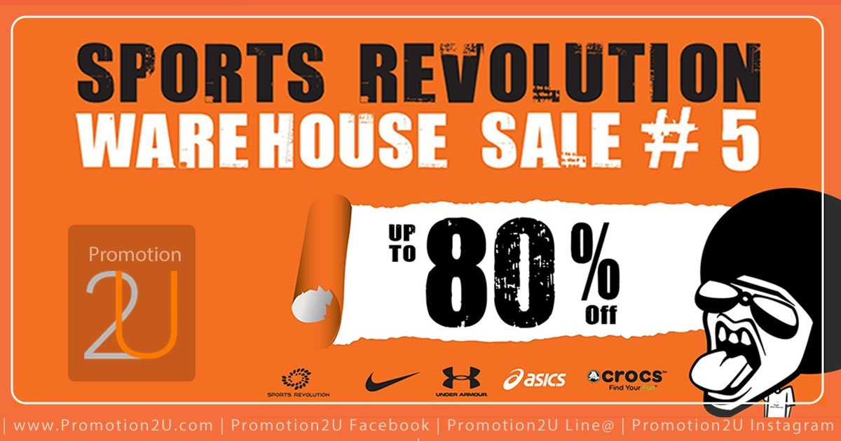 Promotion Sports Revolution Warehouse Sale #5 Nike, Under Armour, ASICS, Crocs Sale up to 80 Off [July.2016]