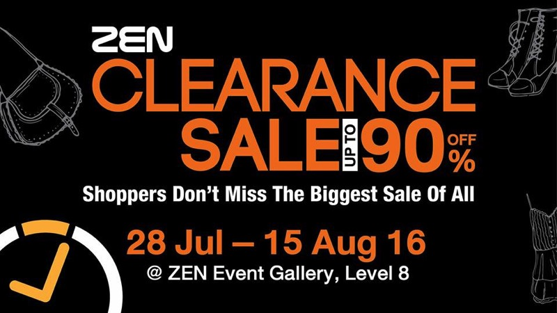 Promotion ZEN Clearance Sale up to 90% Off [Aug.2016]