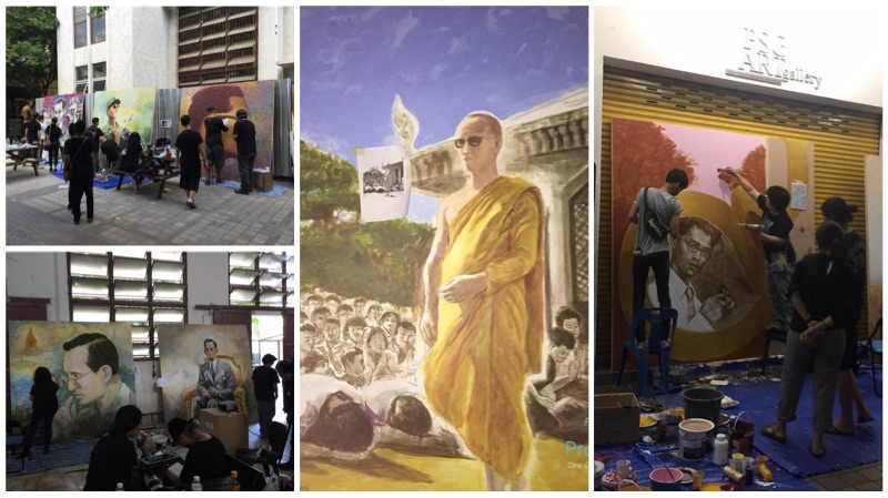 The Art Of King by Faculty of painting, sculpture and graphic arts Silpakorn University
