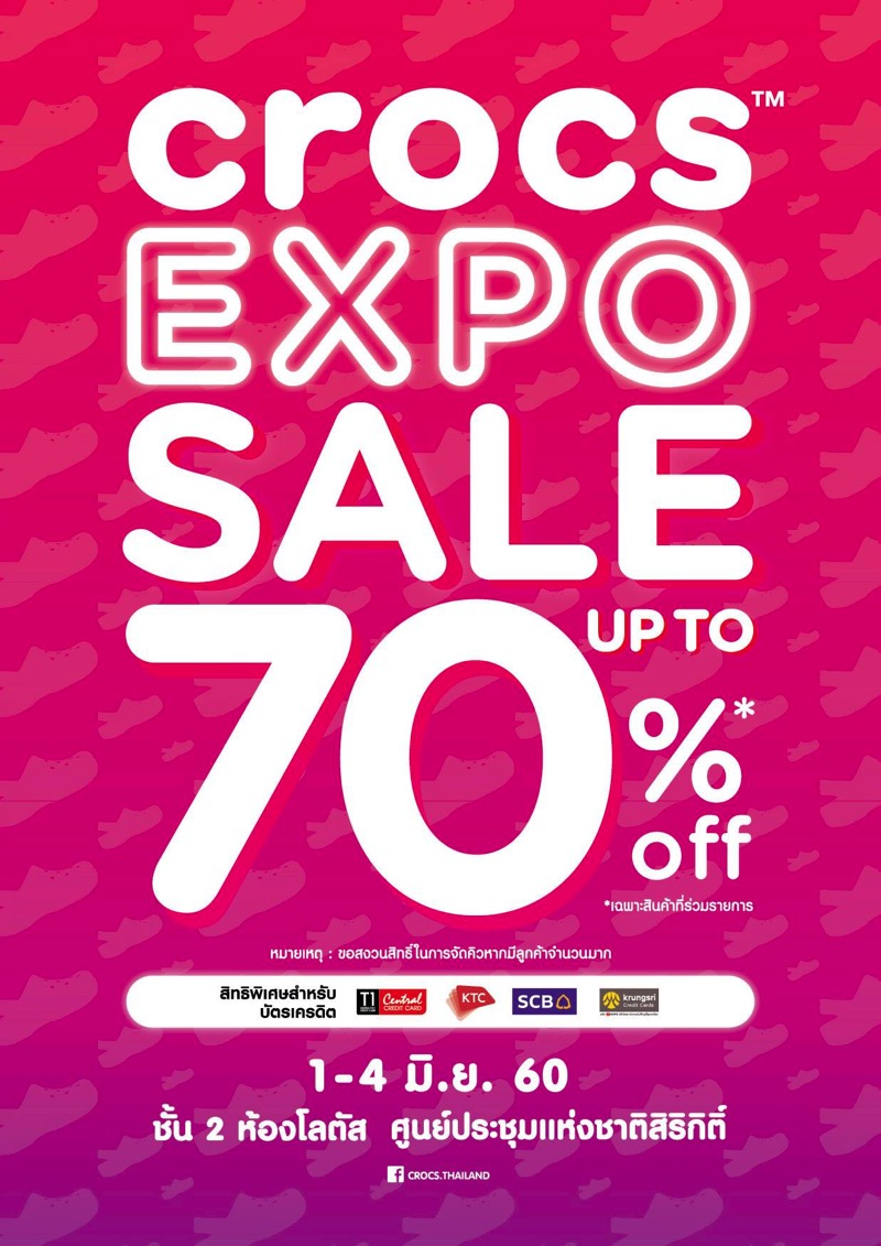 Promotion Crocs Expo 2017 Sale up to 70 Off Jun 2017 FULL