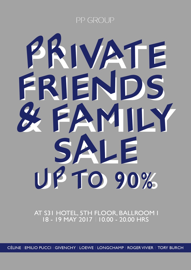 Promotion PP GROUP Private Friends  Family Sale 2017 Emilio Pucci Loewe Longchamp Roger vivier TORY BURCH up to 90 Off FULL
