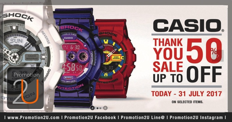 Promotion Casio Thank You Sale 2017 Sale up to 50 Off Jun 2017