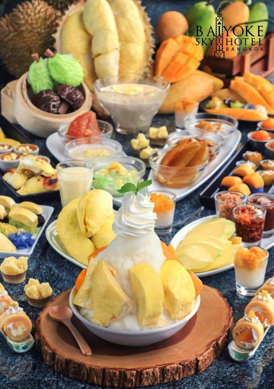 Promotion Fruit Buffet Durian and Mango Fever at Baiyok Sky Hotel Bangkok P01