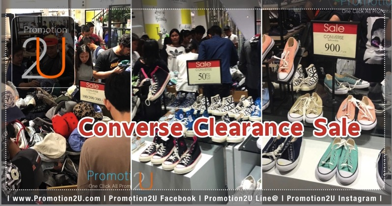 Promotion Converse Sale 50 started at 100 Baht
