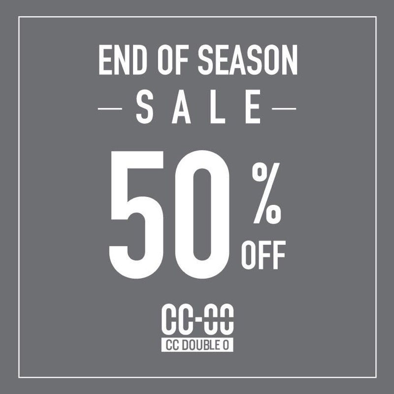 Promotion cc double o end of season sale 50 off july 2017 FULL