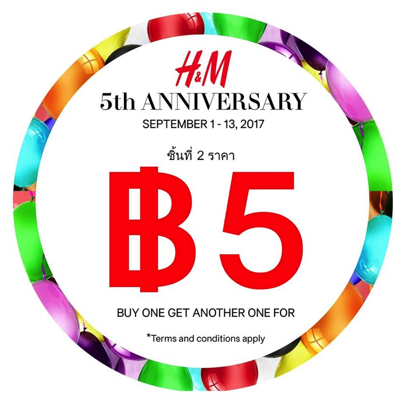 Promotion H M 5th Celebration Buy 2 Only 5 Baht FULL